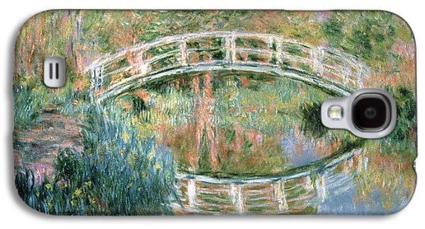 Botanical Galaxy S4 Cases - The Japanese Bridge Galaxy S4 Case by Claude Monet