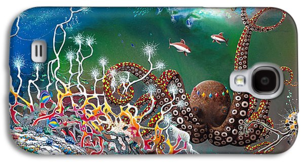 Recently Sold -  - Angel Mermaids Ocean Galaxy S4 Cases - The Jeweled Octopus Galaxy S4 Case by Lee Pantas
