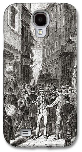 Austria Drawings Galaxy S4 Cases - The Jewish Quarter, Vienna, Austria In Galaxy S4 Case by Vintage Design Pics