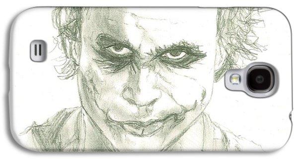 Joker Dark Knight Heath Ledger Movie Actor Galaxy S4 Cases - The Joker / Heath Ledger Galaxy S4 Case by Renee Kilburn
