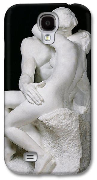 Black Sculptures Galaxy S4 Cases - The Kiss Galaxy S4 Case by Auguste Rodin