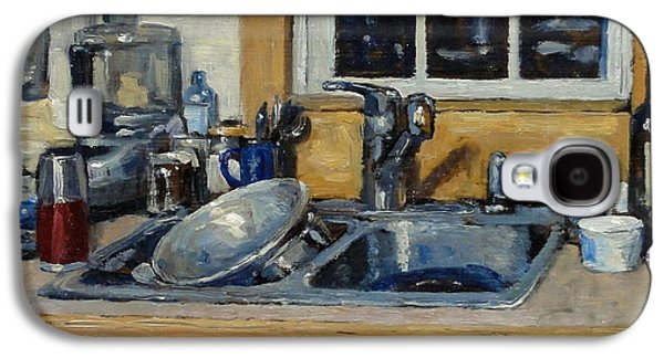 Water Jars Paintings Galaxy S4 Cases - The Kitchen Sink Galaxy S4 Case by Thor Wickstrom