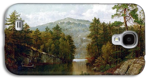 Wilderness Paintings Galaxy S4 Cases - The Lake George Galaxy S4 Case by David Johnson