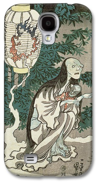 Creepy Drawings Galaxy S4 Cases - The Lantern of the Ghost of Sifigured O-iwa Galaxy S4 Case by Japanese School