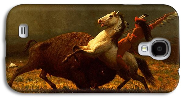 The Last Of The Buffalo Galaxy S4 Case by Albert Bierstadt