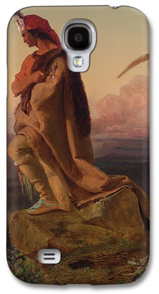 Tribe Paintings Galaxy S4 Cases - The Last of the Mohicans Galaxy S4 Case by Emanuel Gottlieb Leutze
