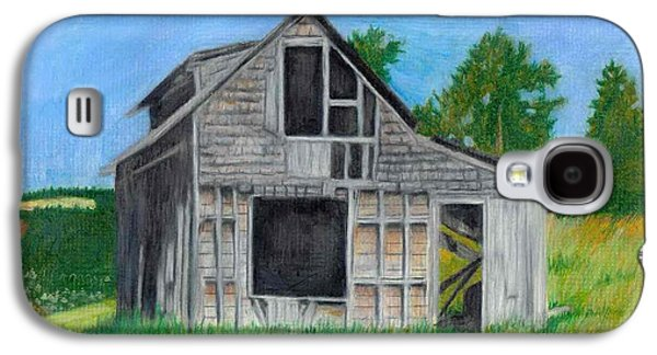 Haunted House Pastels Galaxy S4 Cases - The Last Stage Stop Galaxy S4 Case by Mendy Pedersen