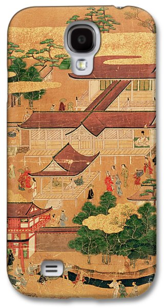 Pastimes Galaxy S4 Cases - The Life and Pastimes of the Japanese Court - Tosa School - Edo Period Galaxy S4 Case by Japanese School