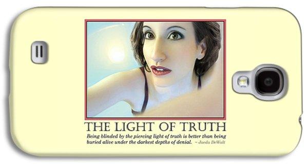Dreamscape Galaxy S4 Cases - The Light of Truth Galaxy S4 Case by Jaeda DeWalt