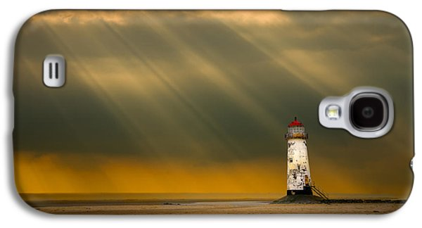 Atmosphere Photographs Galaxy S4 Cases - The Lighthouse As The Storm Breaks Galaxy S4 Case by Meirion Matthias