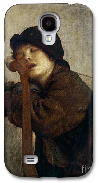 The Little Violinist Sleeping Galaxy S4 Case by Antoine Auguste Ernest Hebert