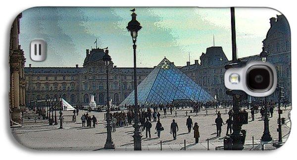 Studio Photographs Galaxy S4 Cases - The Louvre In Paris Galaxy S4 Case by Al Bourassa