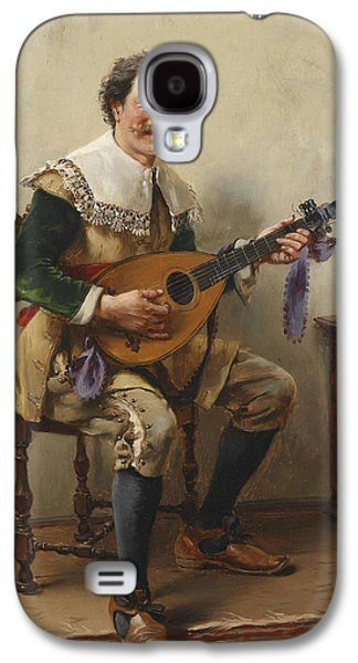 Lute Paintings Galaxy S4 Cases - The Lute Player Galaxy S4 Case by Celestial Images