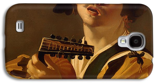 Lute Paintings Galaxy S4 Cases - The Lute Player Galaxy S4 Case by Dirk Van Baburen
