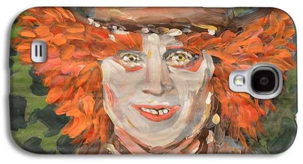Mad Hatter Paintings Galaxy S4 Cases - The Mad Hatter Galaxy S4 Case by Vikram Singh