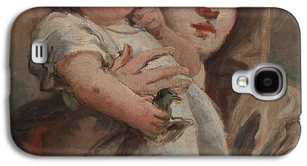 Jesus With Children Galaxy S4 Cases - The Madonna and Child with a goldfinch Galaxy S4 Case by Tiepolo