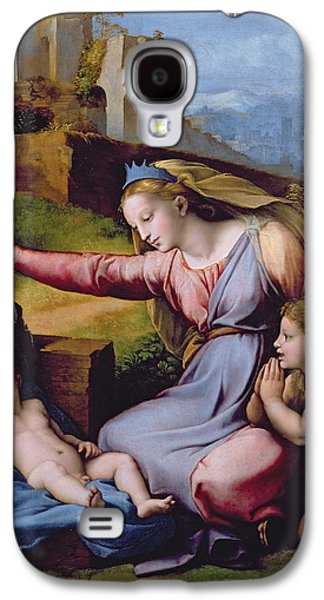 Baptist Paintings Galaxy S4 Cases - The Madonna of the Veil Galaxy S4 Case by Raphael