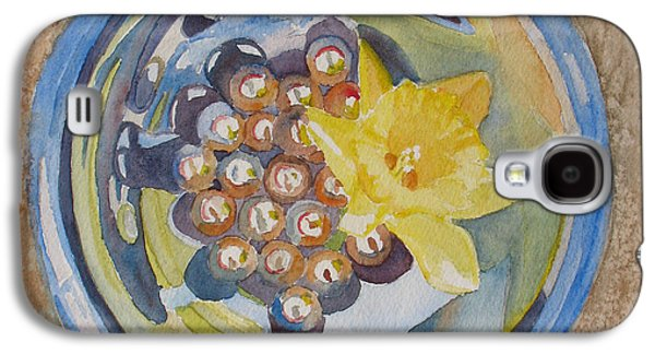 Floral Still Life Paintings Galaxy S4 Cases - The Magic Bowl II Galaxy S4 Case by Jenny Armitage