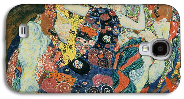 Lesbian Paintings Galaxy S4 Cases - The Maiden Galaxy S4 Case by Gustav Klimt