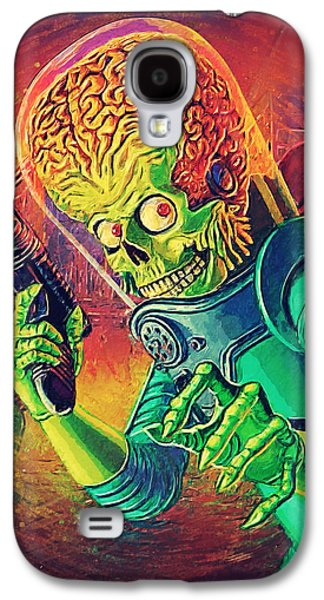 Animation Galaxy S4 Cases - The Martian - Mars Attacks Galaxy S4 Case by Taylan Soyturk
