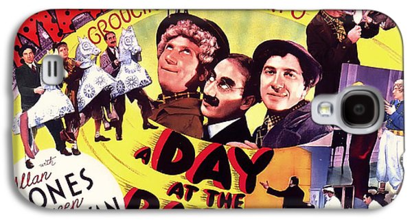 At Poster Mixed Media Galaxy S4 Cases - The Marx Bros - A Day At The Races 1927 Galaxy S4 Case by Mountain Dreams
