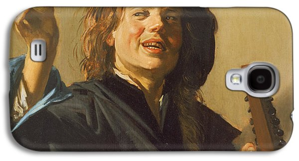 Lute Paintings Galaxy S4 Cases - The Merry Lute Player Galaxy S4 Case by Frans Hals