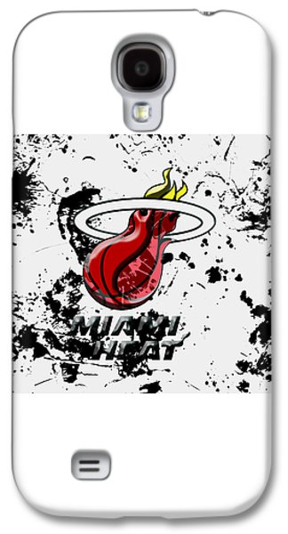 The Miami Heat 1c Galaxy S4 Case by Brian Reaves