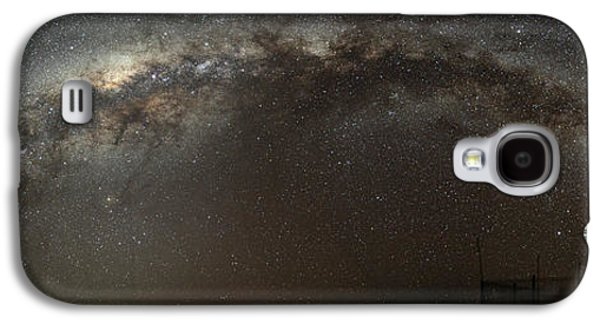 Milky Way Paintings Galaxy S4 Cases - the Milky Way Arch our home galaxy Galaxy S4 Case by Celestial Images