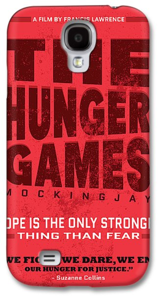 Moral Paintings Galaxy S4 Cases - The minimalist Movie Poster - The Hunger Games - Mockingjay Movie Galaxy S4 Case by Adam Asar