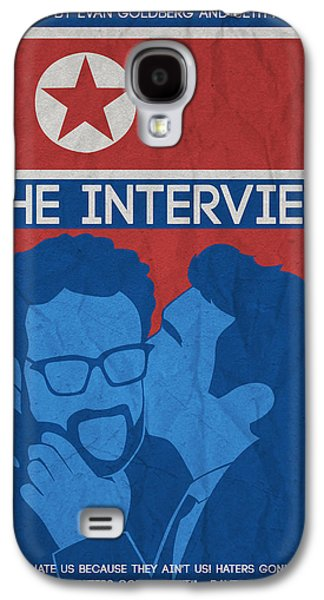 Moral Paintings Galaxy S4 Cases - The Minimalist Movie Poster- The Interview Galaxy S4 Case by Adam Asar