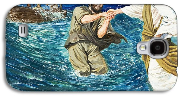 Religious Galaxy S4 Cases - The Miracles of Jesus Walking on Water  Galaxy S4 Case by Clive Uptton