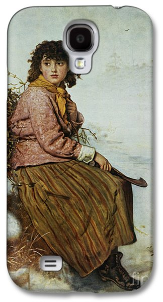 The Mistletoe Gatherer Galaxy S4 Case by Sir John Everett Millais