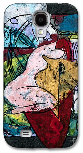The Musician And Her Golden Tool Galaxy S4 Case by Elisabeta Hermann