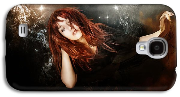 Woman Head Galaxy S4 Cases - The Mystic Galaxy S4 Case by Karen H