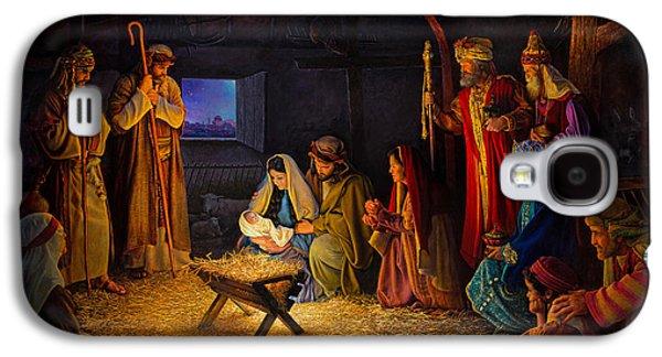 The Nativity Galaxy S4 Case by Greg Olsen