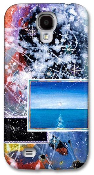 Angel Mermaids Ocean Galaxy S4 Cases - The Ocean Dawn Galaxy S4 Case by Lee Pantas