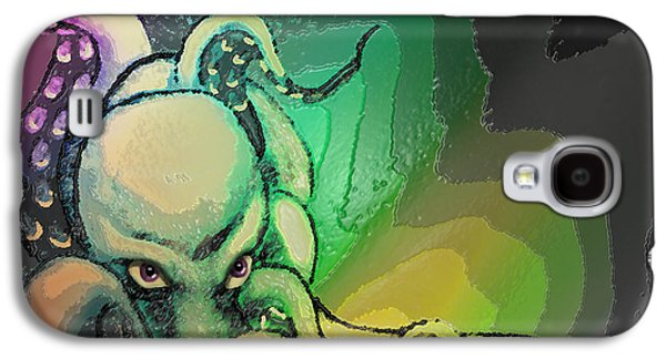 Abstract Digital Paintings Galaxy S4 Cases - The Octopus Queen Galaxy S4 Case by Michelle Rene Goodhew