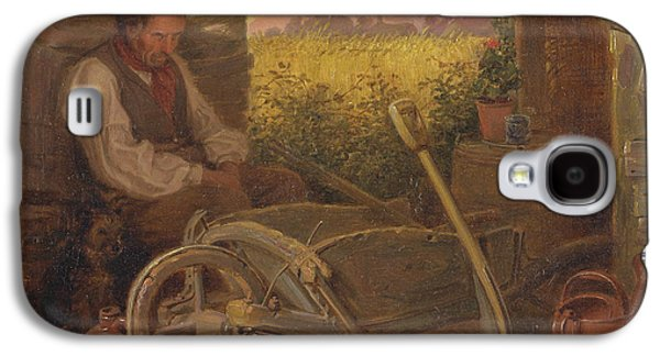 Old Pitcher Paintings Galaxy S4 Cases - The Old Gardener Galaxy S4 Case by Briton Riviere