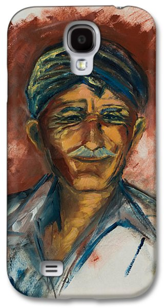 Pride Paintings Galaxy S4 Cases - The Old Greek Man Galaxy S4 Case by Elise Palmigiani