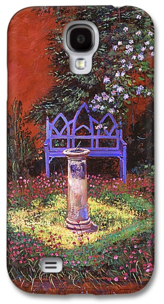 Terra Paintings Galaxy S4 Cases - The Old Sundial Galaxy S4 Case by David Lloyd Glover