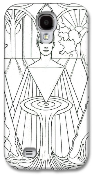 Religious Drawings Galaxy S4 Cases - The Oracle Galaxy S4 Case by Debra A Hitchcock