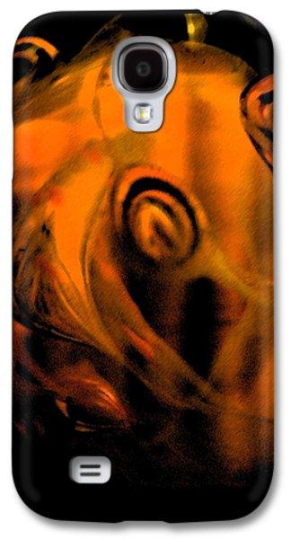Abstract Digital Art Glass Art Galaxy S4 Cases - The Origins Galaxy S4 Case by Uleria Caramel