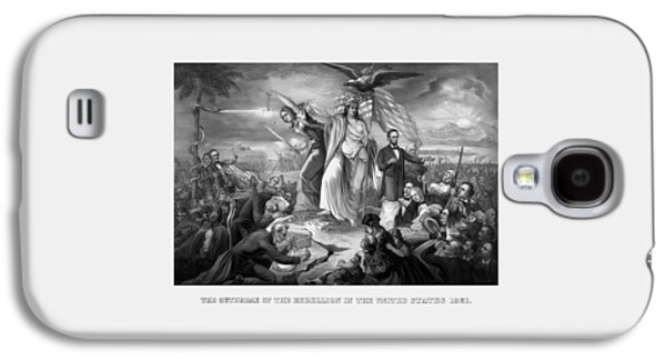 North Drawings Galaxy S4 Cases - The Outbreak Of The Rebellion In The United States Galaxy S4 Case by War Is Hell Store