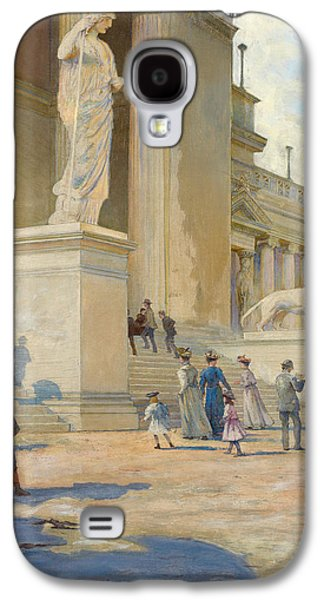 Museum Paintings Galaxy S4 Cases - The Palace of Fine Arts  Galaxy S4 Case by Edwin Howland Blashfield