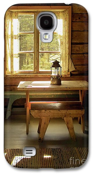 Log Cabin Interiors Galaxy S4 Cases - The Parlour Galaxy S4 Case by Heiko Koehrer-Wagner
