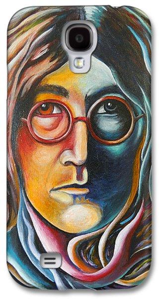 Beatles Galaxy S4 Cases - The Peace of John Lennon Galaxy S4 Case by Robert Stokley