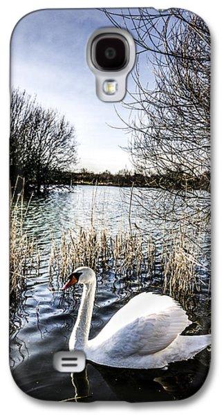 Swan Pair Galaxy S4 Cases - The Peaceful Swan Galaxy S4 Case by David Pyatt