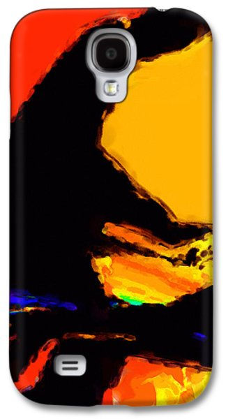 Abstract Digital Digital Art Galaxy S4 Cases - The Pianist Galaxy S4 Case by Richard Rizzo