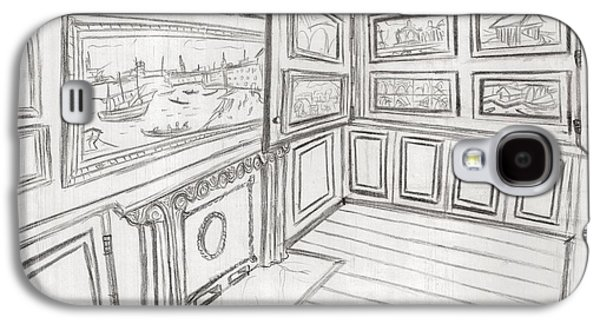The Picture Gallery At The Soane Museum 2 Galaxy S4 Case by Arter