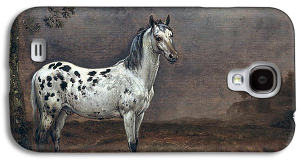 Wild Horse Paintings Galaxy S4 Cases - The Piebald Horse Galaxy S4 Case by Paulus Potter
